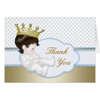 Cartes Merci de prince baby shower