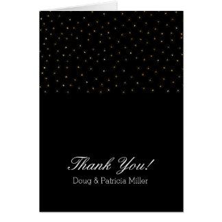 Cartes Merci de scintillement d'étoiles de scintillement