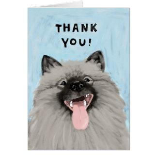 Cartes Merci de sourire de Keeshond