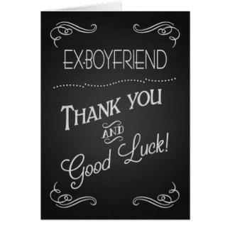 Cartes Merci de tableau et bonne chance au l'Ex-Ami