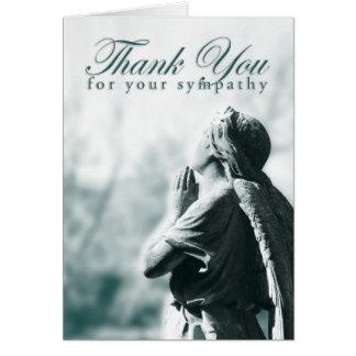 Cartes merci de votre sympathie (l'ange de prière)