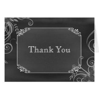 Cartes Merci décoratif rustique de mariage de panneau de