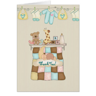 Cartes Merci d'édredon de bébé avec le vers