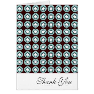 Cartes Merci d'étoile fraîche et de cercles
