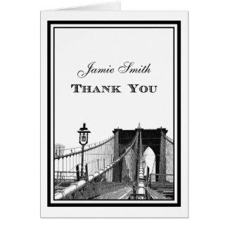 Cartes Merci du pont de Brooklyn d'horizon de NYC #2