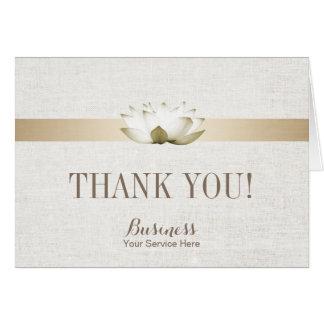 Cartes Merci élégant de SPA de salon de Lotus de thérapie