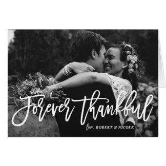 Cartes Merci en lettres de mariage de main pour toujours