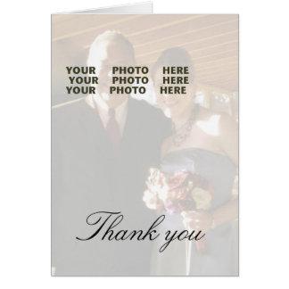 Cartes Merci épousant la photo