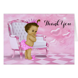 Cartes Merci ethnique de douche de bébé