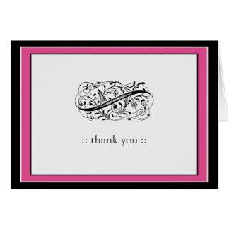 Cartes Merci fait sur commande simplement élégant