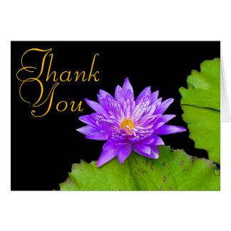 Cartes Merci floral chic de mod de couleur pourpre de