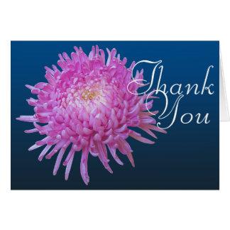 Cartes Merci floral chic de mod de couleur rose de