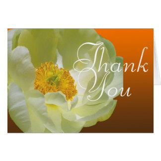Cartes Merci floral chic de mod de photo couleur de pavot