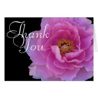 Cartes Merci floral chic de mod de pivoine de photo rose