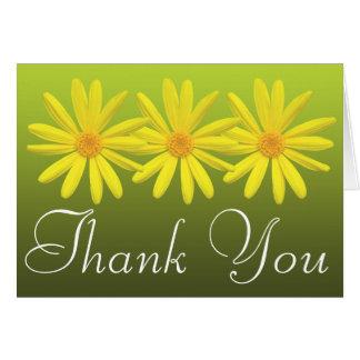 Cartes Merci floral de marguerites d'amusement coloré