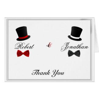Cartes Merci gai de mariage de casquettes supérieurs et