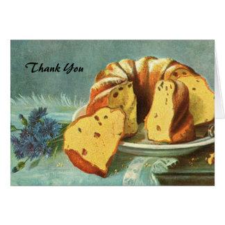 Cartes Merci - gâteau au café pour la société - centre