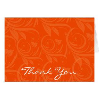 Cartes Merci graphique rose de mariage d'orange