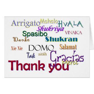 Cartes Merci, Hvala, Gracias, Vielen humide, Spasibo