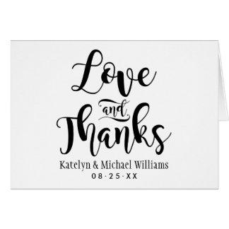 Cartes Merci l'épousant d'amour et de mercis |