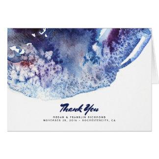 Cartes Merci moderne en cristal d'aquarelle d'Agata