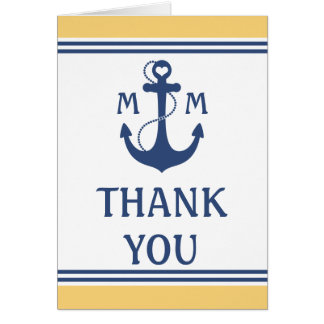 Cartes Merci nautique de mariage