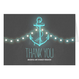 Cartes Merci nautique de mariage de tableau d'ancre
