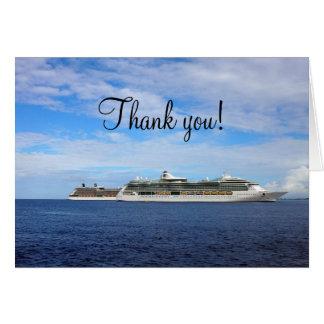 Cartes Merci nautique des vacances | de bateau de
