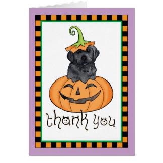 Cartes Merci noir de laboratoire de Halloween