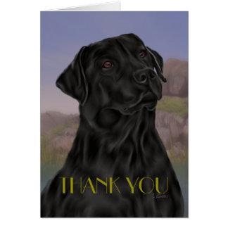 Cartes Merci noir de labrador retriever