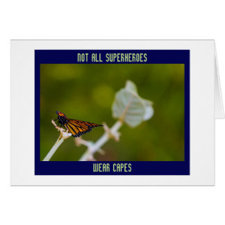 Cartes Merci non tout le papillon de caps d'usage de