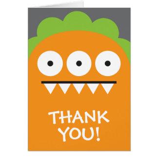 Cartes Merci orange de monstre