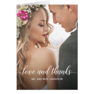 Cartes Merci personnalisé de photo de portrait de mariage