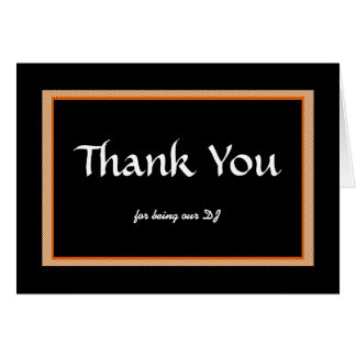 Cartes Merci, pour être le notre DJ