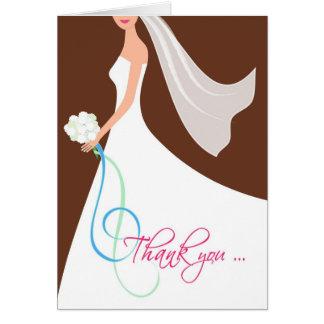 Cartes Merci pour être ma demoiselle d'honneur - chocolat