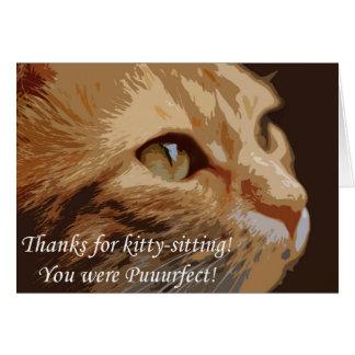 Cartes Merci pour Kitty-se reposer