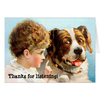 Cartes Merci pour l'écoute !
