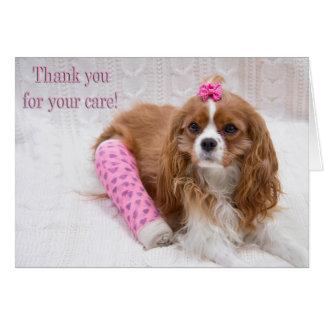 Cartes Merci pour votre épagneul du Roi Charles de soin