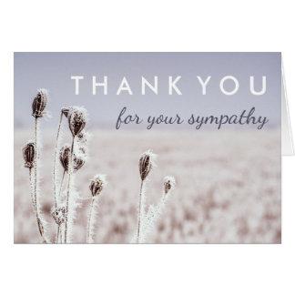 Cartes Merci pour votre hiver de la sympathie |