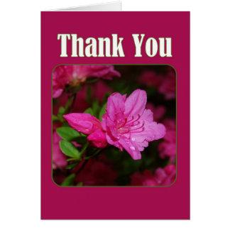 Cartes Merci rose d'azalée