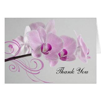 Cartes Merci rose de mariage d'élégance d'orchidée
