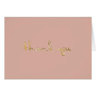 Cartes Merci rose épousseté de coeur de Graver en
