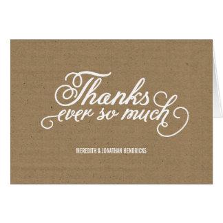 Cartes Merci rustique de papier d'emballage