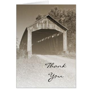 Cartes Merci rustique de pont couvert