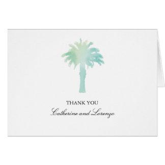 Cartes Merci serein de l'aquarelle | de palmier