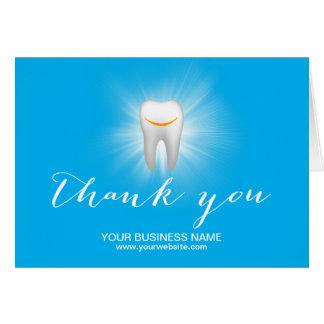 Cartes Merci simple de sourire d'affaires de dent de