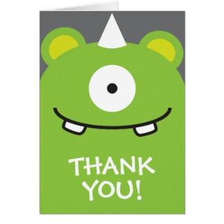 Cartes Merci vert de monstre
