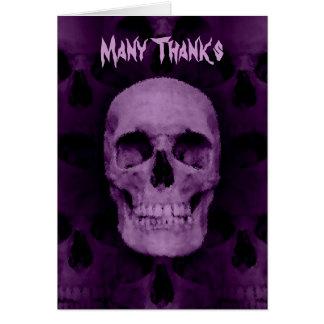 Cartes Mercis de crâne de Halloween