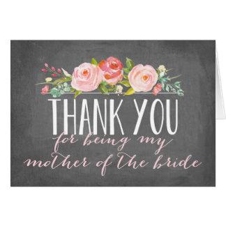 Cartes Mère du Merci | de la jeune mariée
