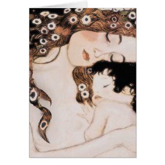 Cartes Mère et enfant Gustav Klimt